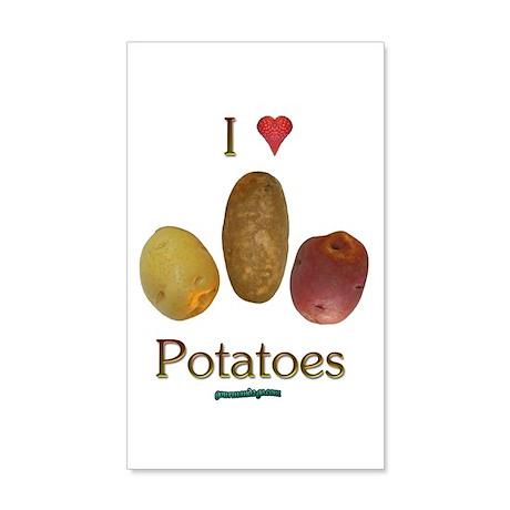 I Heart Potatoes 38.5 x 24.5 Wall Peel