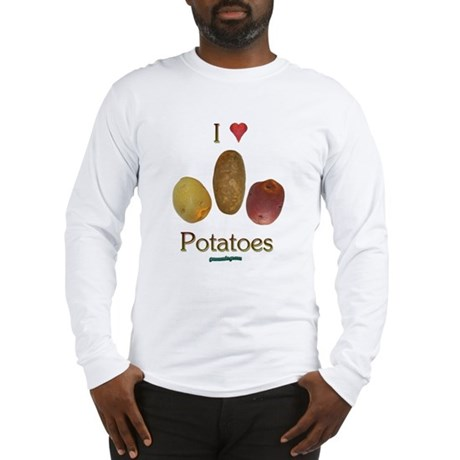 I Heart Potatoes Long Sleeve T-Shirt