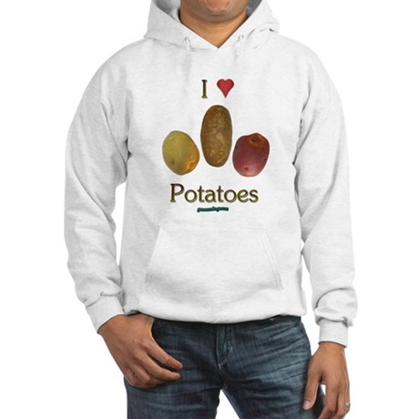 I Heart Potatoes Hooded Sweatshirt