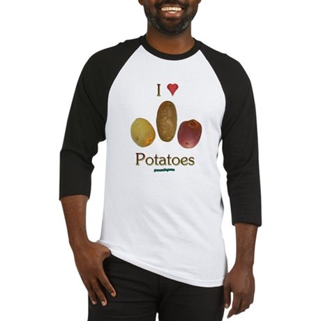 I Heart Potatoes Baseball Jersey