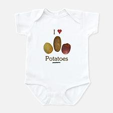 I Heart Potatoes Infant Bodysuit