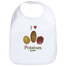 I Heart Potatoes Bib
