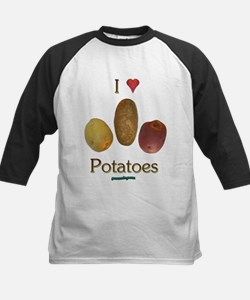 I Heart Potatoes Kids Baseball Jersey