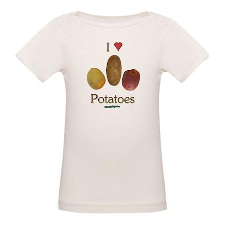 I Heart Potatoes Organic Baby T-Shirt