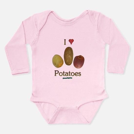 I Heart Potatoes Onesie Romper Suit