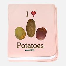 I Heart Potatoes baby blanket