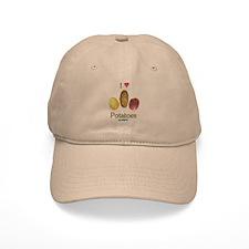 I Heart Potatoes Baseball Cap