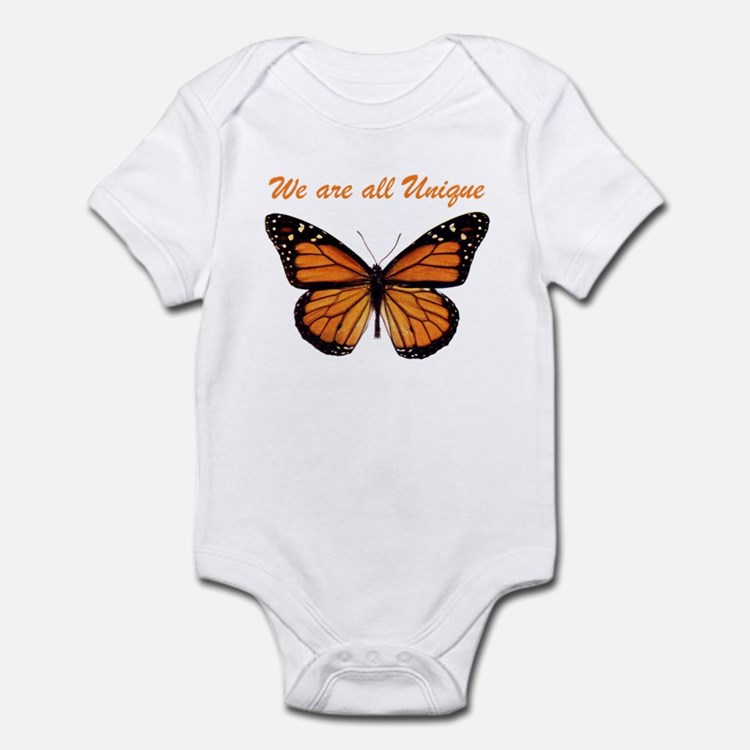 We Are All Unique: Butterfly Infant Bodysuit