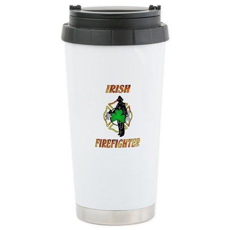 Irish Firefighter Stainless Steel Travel Mug