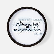 Gibbs' Rules #3 Wall Clock