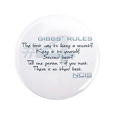 "Gibbs' Rules #4 3.5"" Button"