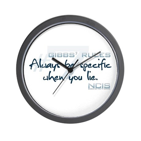 Gibbs' Rules #7 Wall Clock