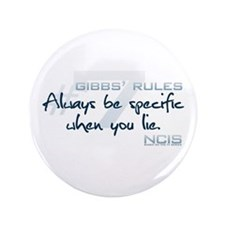 "Gibbs' Rules #7 3.5"" Button"