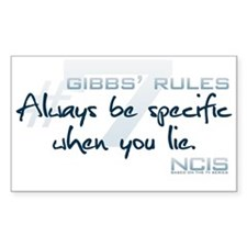 Gibbs' Rules #7 Decal