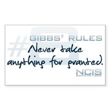 Gibbs' Rules #8 Decal