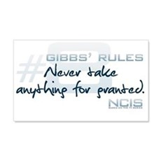 Gibbs' Rules #8 22x14 Wall Peel
