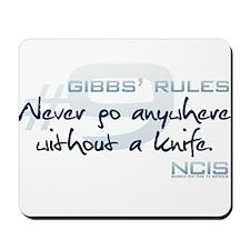 Gibbs' Rules #9 Mousepad
