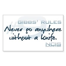 Gibbs' Rules #9 Decal
