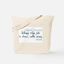 Gibbs' Rules #11 Tote Bag