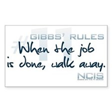 Gibbs' Rules #11 Decal