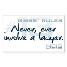 Gibbs' Rules #13 Decal