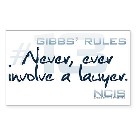 Gibbs' Rules #13 Sticker (Rectangle)