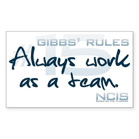 Gibbs' Rules #15 Sticker (Rectangle)