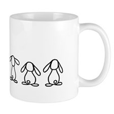 4 lop bunnies family Mug