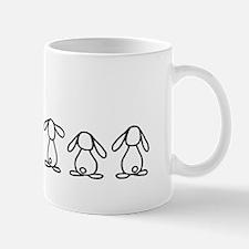 4 lop bunnies family Mug