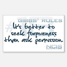 Gibbs' Rules #18 Decal