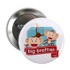 """Big Brother Monkey 2.25"""" Button"""