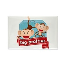 Big Brother Monkey Rectangle Magnet