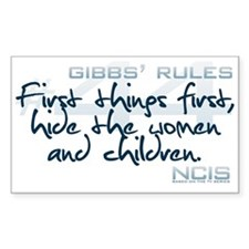 Gibbs' Rules #44 Decal