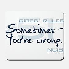 Gibbs' Rules #51 Mousepad