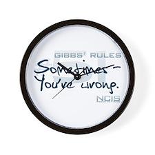 Gibbs' Rules #51 Wall Clock