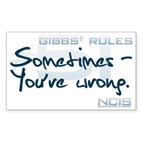 Gibbs' Rules #51 Sticker (Rectangle)