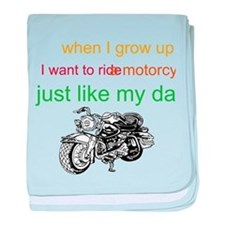 ride a motorcycle just like m baby blanket