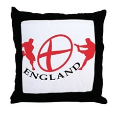 England rugby player Throw Pillow