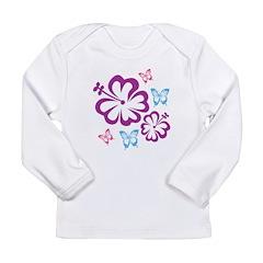 Flowers & butterflies Long Sleeve Infant T-Shirt