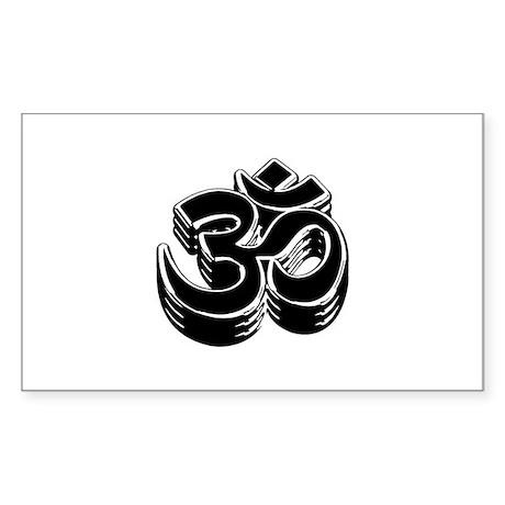 Buddhism OM Symbol Sticker (Rectangle)