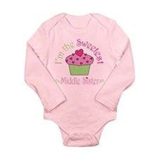 Sweet Middle Sister Long Sleeve Infant Bodysuit