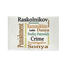 Dostoevsky Characters Rectangle Magnet