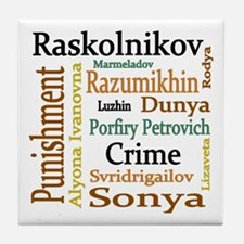 Dostoevsky Characters Tile Coaster