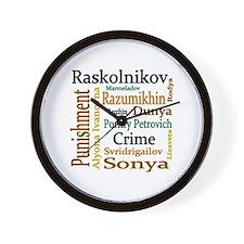 Dostoevsky Characters Wall Clock
