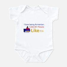LIKE BUTTON Infant Bodysuit