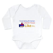 LIKE BUTTON Long Sleeve Infant Bodysuit
