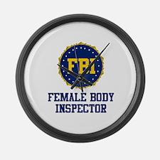 FBI Female Body Inspector Large Wall Clock