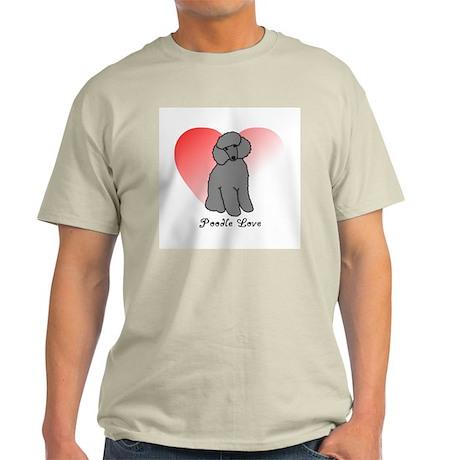 Poodle Love Ash Grey T-Shirt