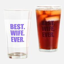Purple Best Wife Ever Drinking Glass