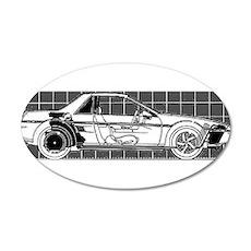 Pontiac Fiero 22x14 Oval Wall Peel
